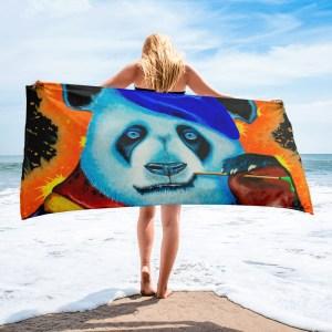 Artist-Panda-Towel-Modern-Wall (1)