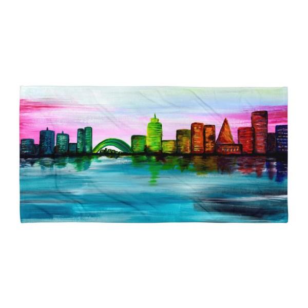 City-of-Dawn-Towel-Modern-Wall-Art (2)
