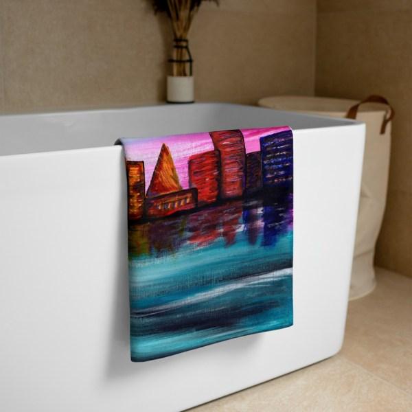 City-of-Dawn-Towel-Modern-Wall-Art (3)