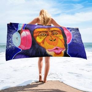Funky-Monkey-Towel-Modern-Wall-Art (1)