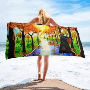 Guitarist-in-the-Woods-Towel-Modern-Wall-Art (1)