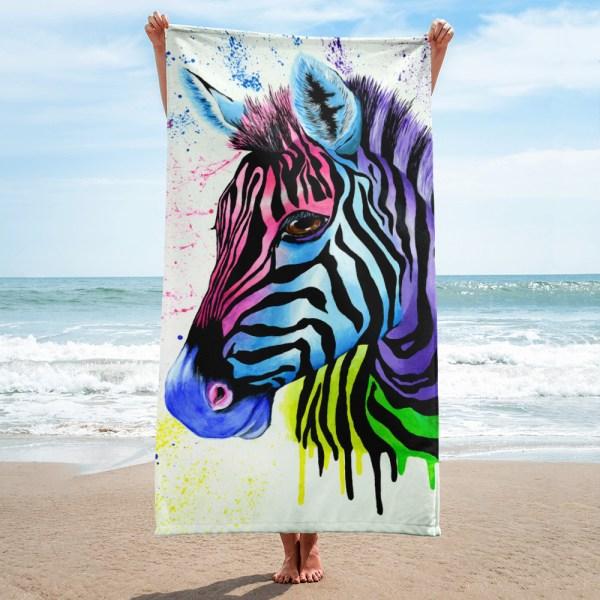 Living-Colour-Zebra-Towel-Modern-Wall-Art (1)