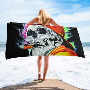 Skull-One-Last-Cigar-Towel-Modern-Wall-Art (1)
