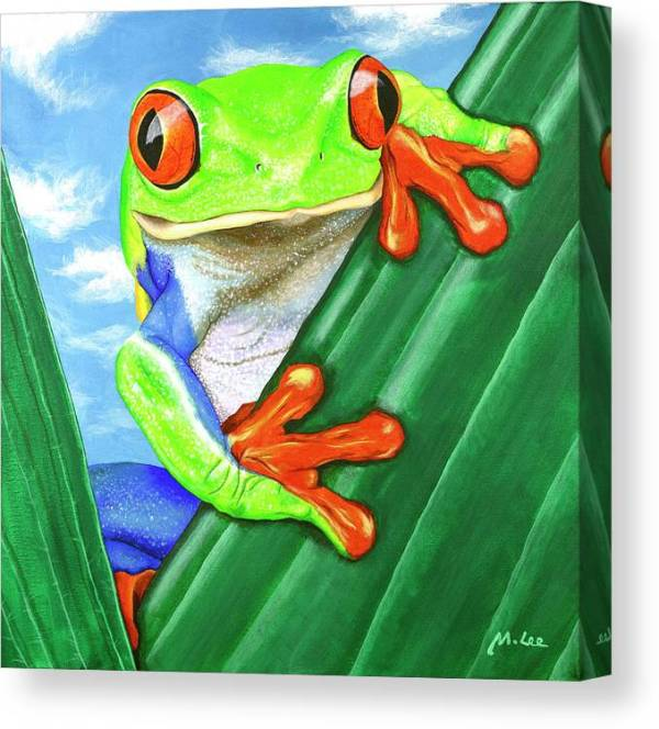 Ellie-the-tree-frog-mikey-lee-canvas-print