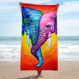 Elephants-in-Love-Towel-Modern-Wall-Art (1)