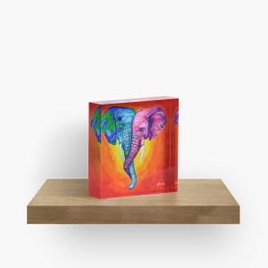 Elephants in Love-acrylic-block (2)