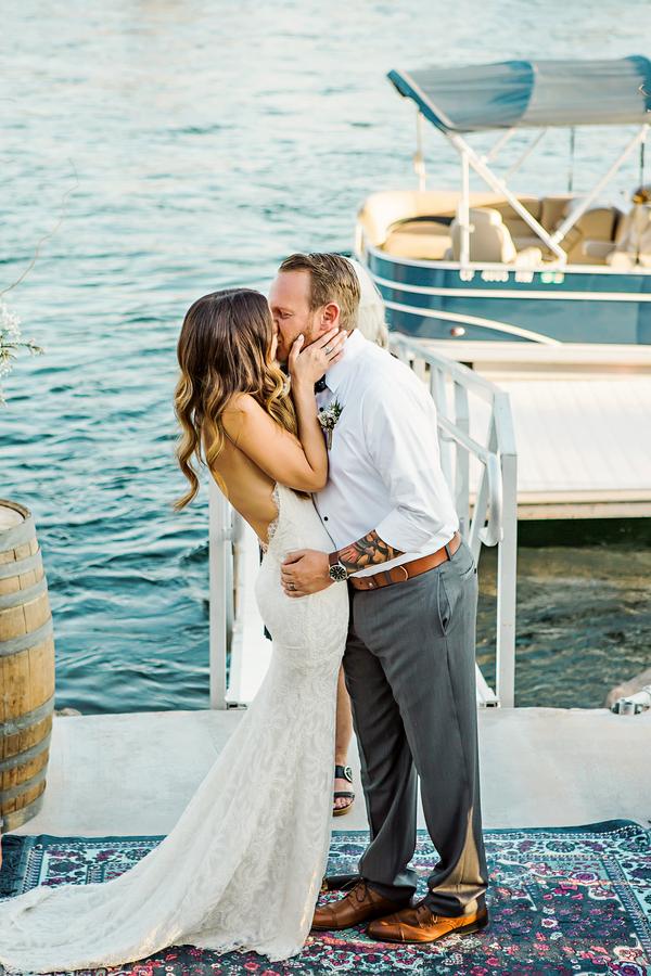 rustic waterfront wedding
