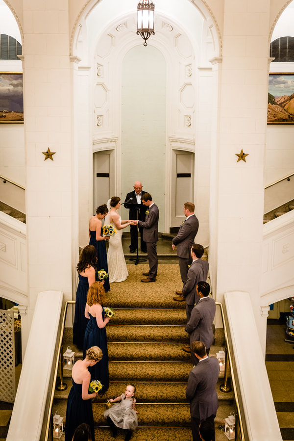 blue museum wedding