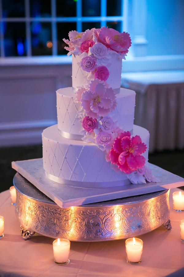 glamorous pink wedding