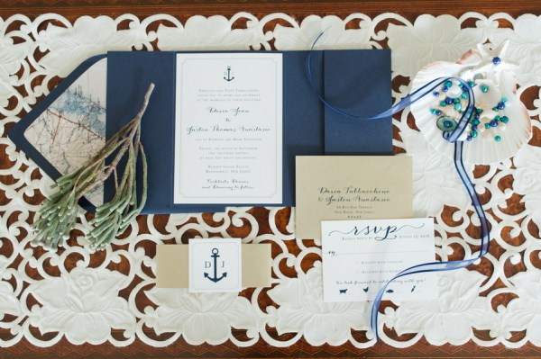 blue coastal wedding