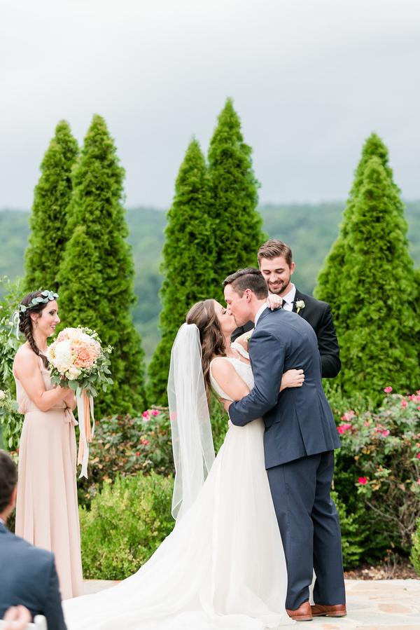 southern cliffside garden wedding