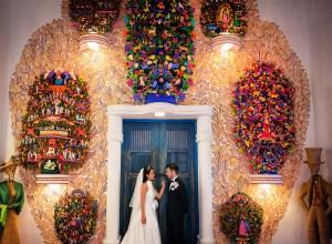tropical Catholic wedding
