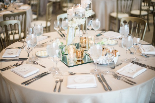 modern gold and white wedding