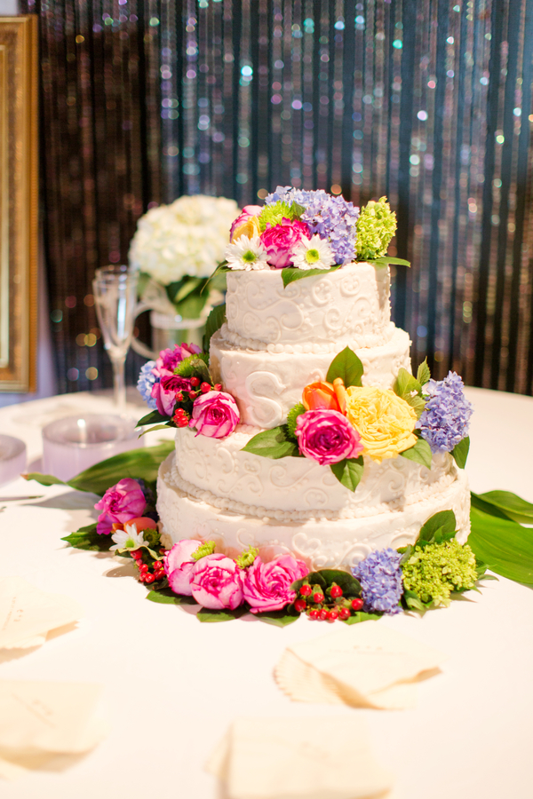 colorful vintage chic wedding