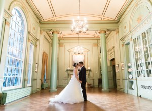 elegant white winter wedding