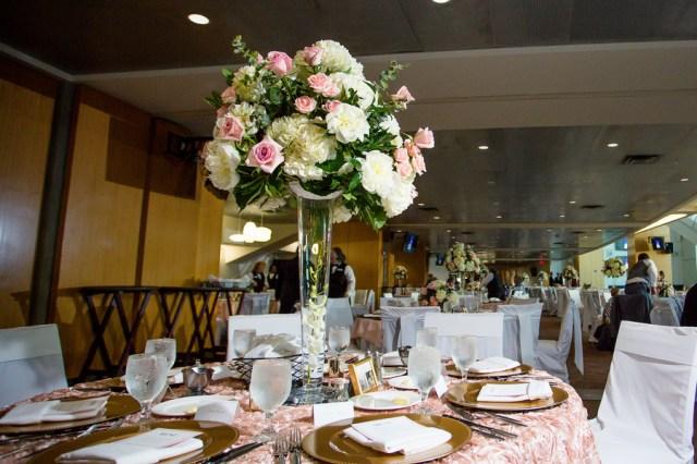 elegant stadium wedding