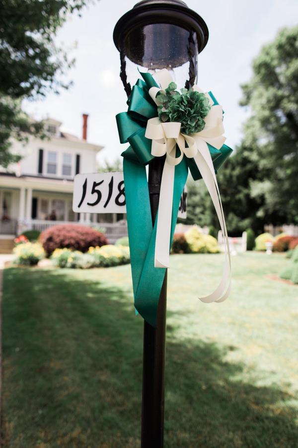 green summer wedding