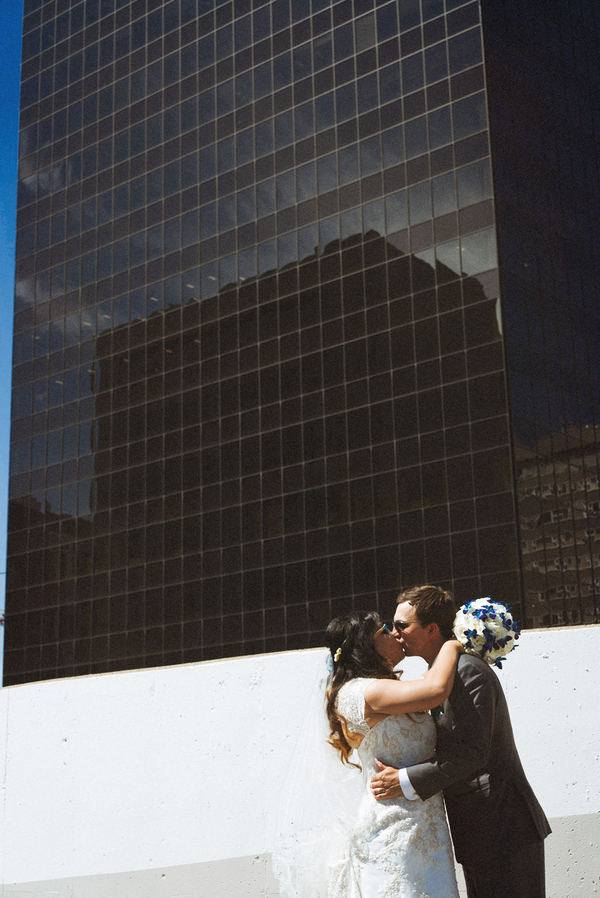 whimsical colorful hotel wedding