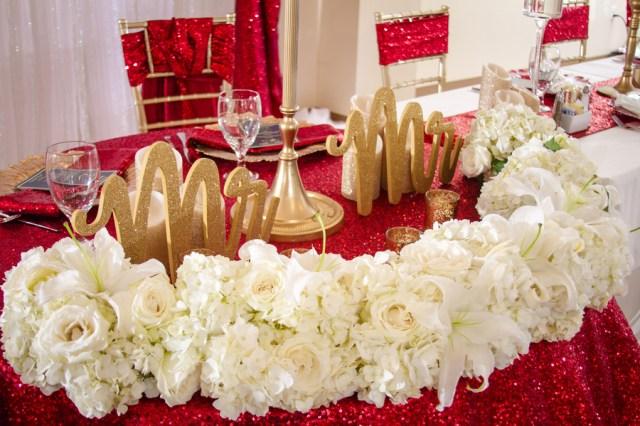 royal red wedding