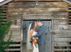 colorful rustic outdoor wedding