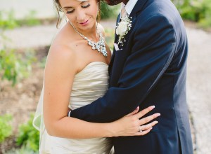 navy and gold Michigan wedding