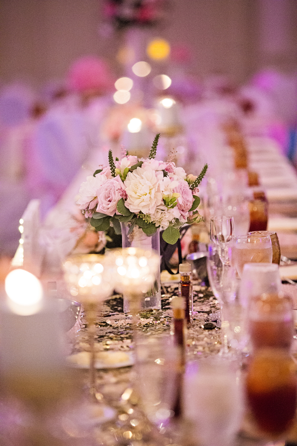 pink Tennessee ballroom wedding