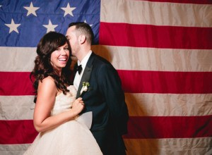 summer patriotic wedding
