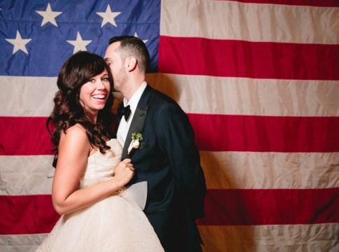 summer patriotic wedding
