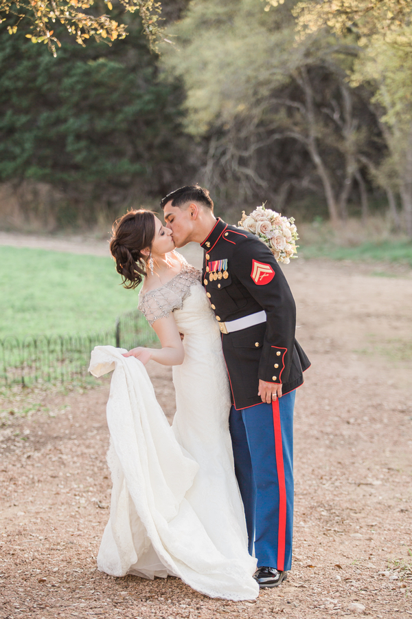 glamorous military wedding