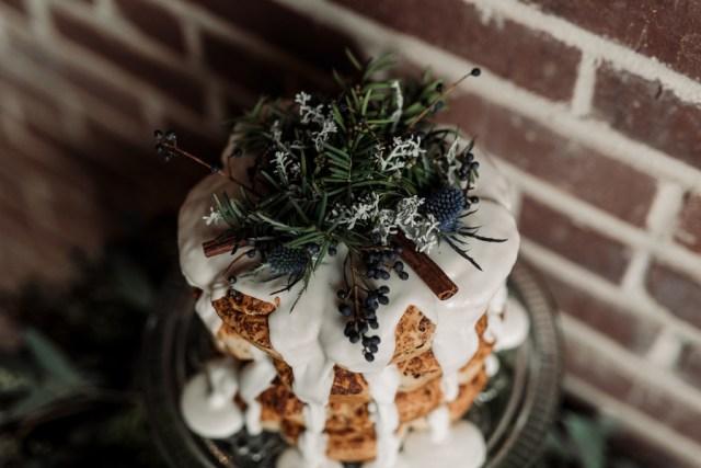 industrial winter wedding