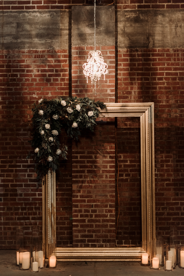 industrial winter wedding