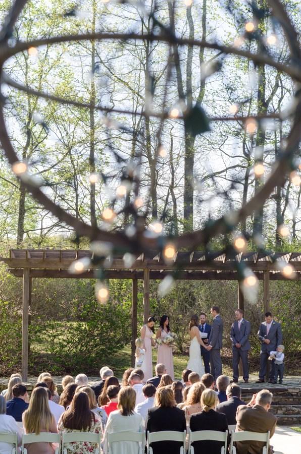 rustic spring wedding