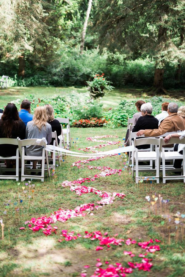 colorful Michigan wedding