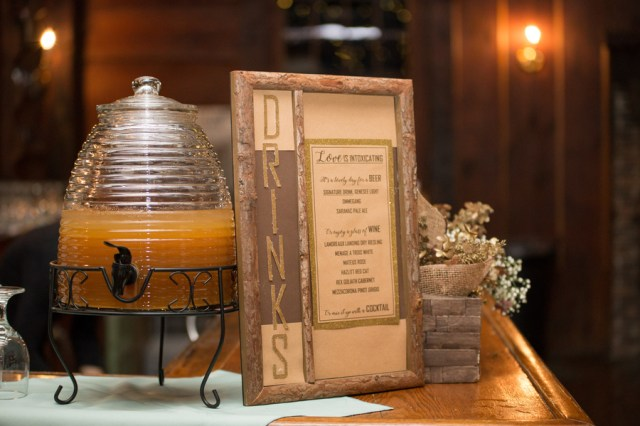 rustic gold wedding