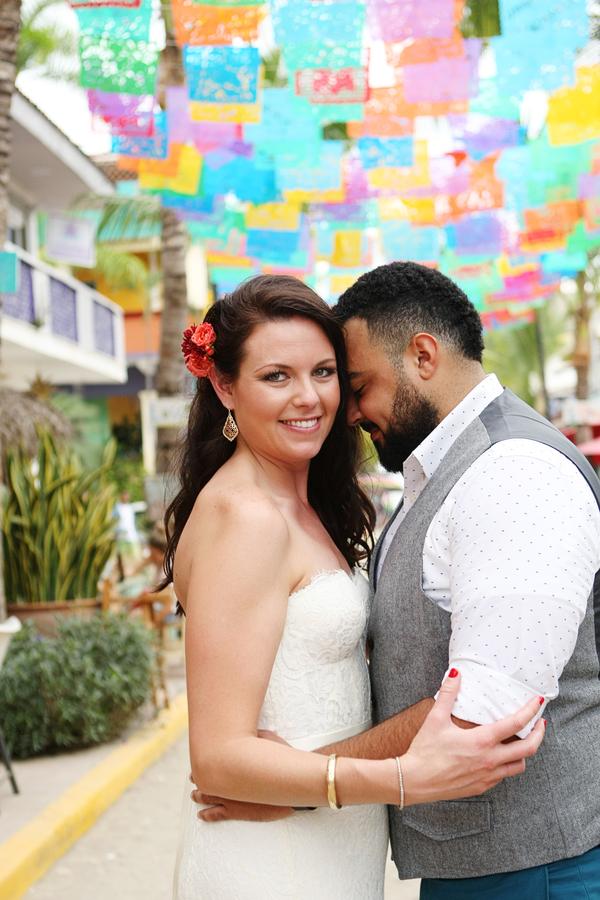 modern Mexican destination wedding