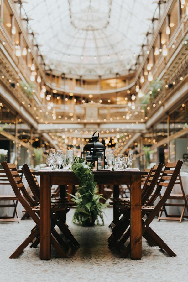 green downtown wedding