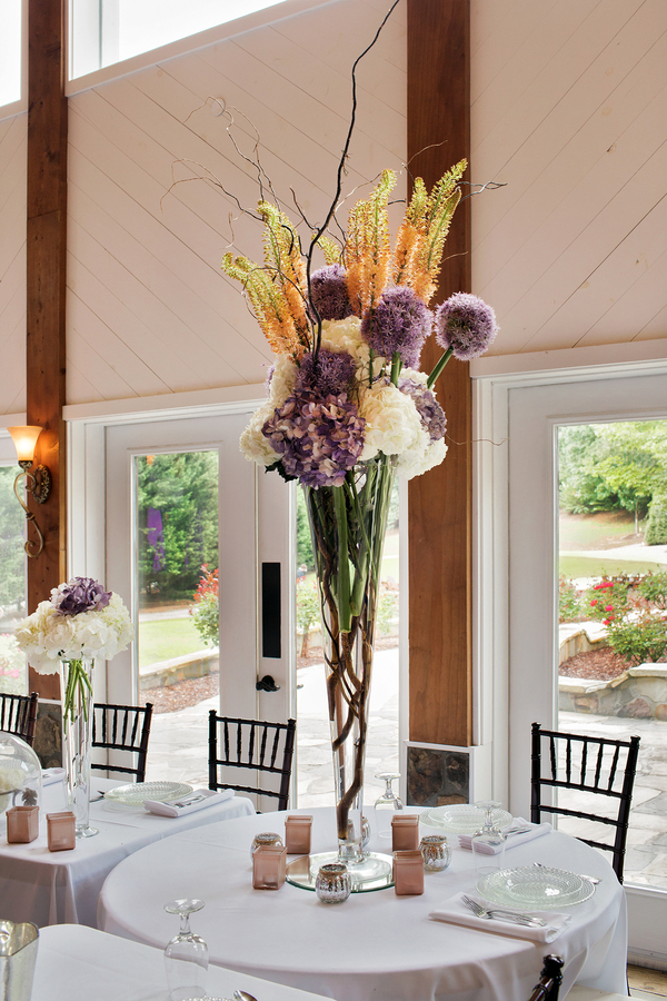 purple Georgia wedding
