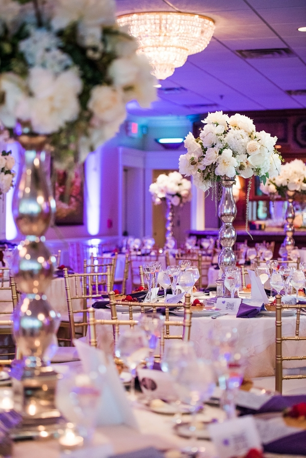 purple estate wedding