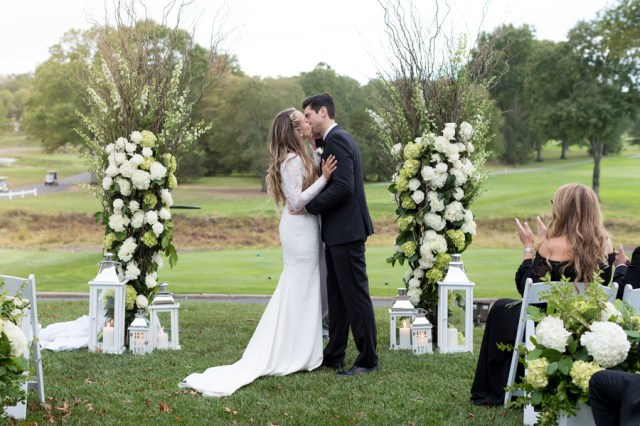 white country club wedding