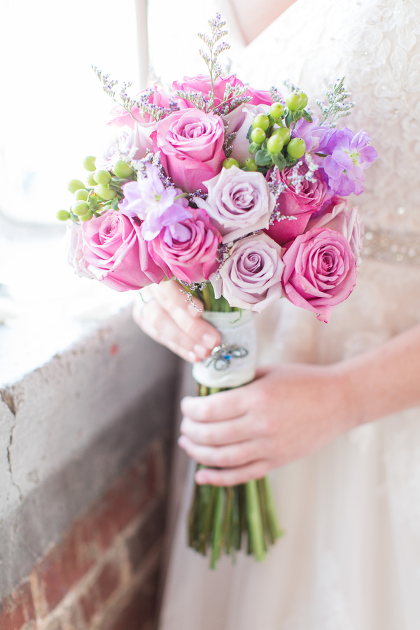purple spring wedding