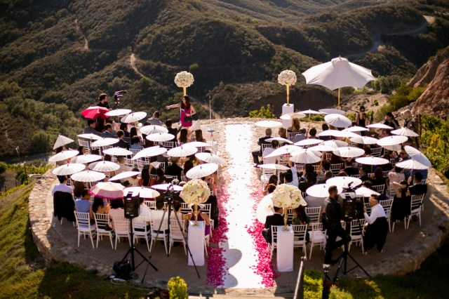 glamorous outdoor wedding