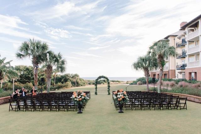 blue outdoor wedding