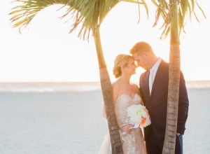 bright beach wedding