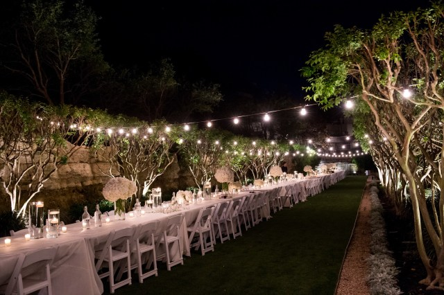 white outdoor wedding