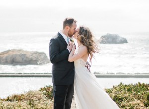 blue beach wedding
