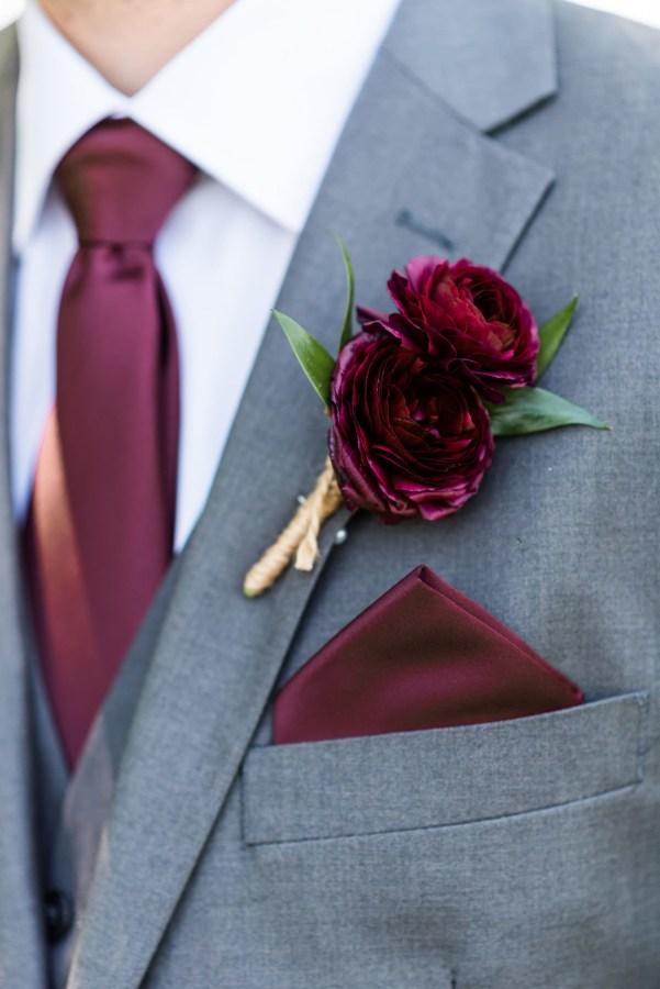 rustic maroon wedding