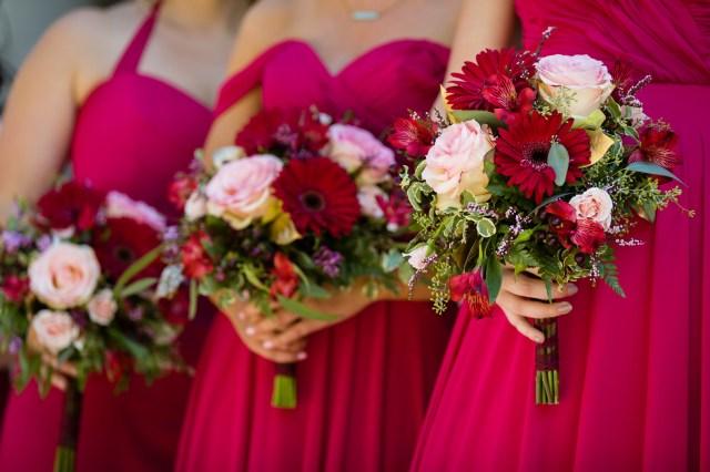 red summer wedding