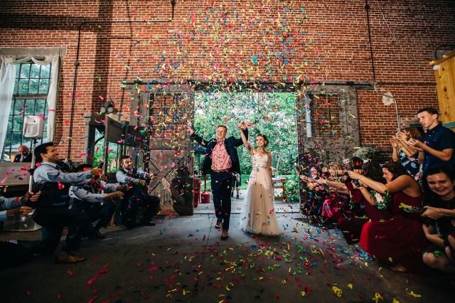 industrial mountain wedding