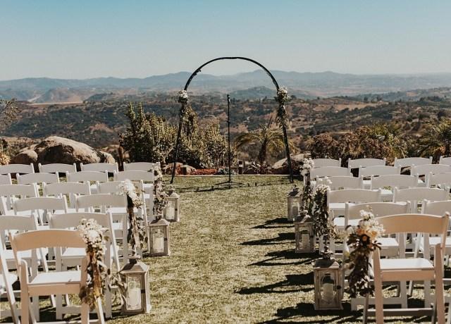 romantic hilltop wedding