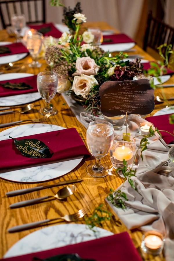 boho winter wedding